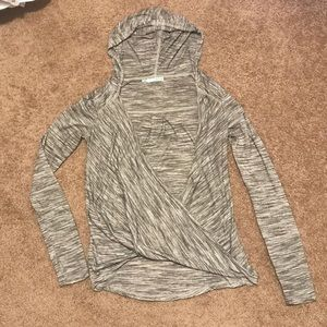 Maurices wrap front pullover hoodie